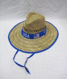 24 Units of Men's USA Summer Straw Hat - Sun Hats