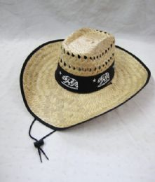 24 Units of Men's California Republic Summer Straw Hat - Sun Hats