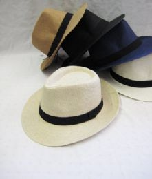 36 Units of Unisex Assorted Fedora Hat - Fedoras, Driver Caps & Visor