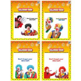 24 Units of Deluxe Clown Wig - Costumes & Accessories