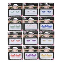 72 Units of Neon Color False Eyelashes - Costumes & Accessories