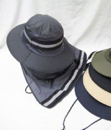 24 Units of Mens Mesh Boonie / Hiking Hat - Bucket Hats