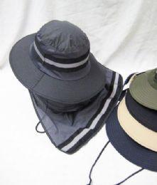 24 Units of Mens Mesh Boonie / Hiking Hat - Bucket Hats