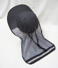 24 Units of Mens Mesh Boonie / Hiking Hat in Grey - Bucket Hats