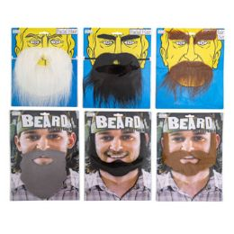 96 Units of Facial Mustache/ Beard - Costumes & Accessories