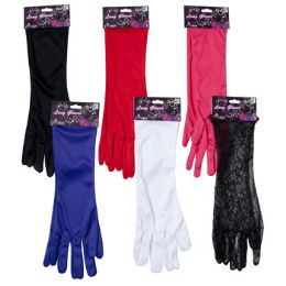 48 Units of Long Dressup Gloves - Costumes & Accessories