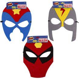 36 Units of Kids Hero Felt Mask - Costumes & Accessories