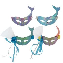 24 Units of Adult Mermaid Carnival Mask - Costumes & Accessories