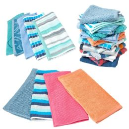 288 Units of Closeout Hand Towels in Assorted Colors and Patterns - Bulk Case of 144 Towels - Towels