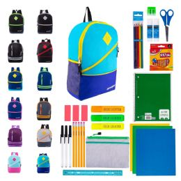 "48 Units of 17"" Bulk Backpacks with 39 Piece School Supply Kits - Backpacks 17"""