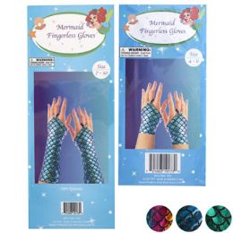 36 Units of Mermaid Finger less Gloves - Costumes & Accessories
