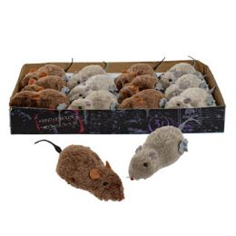 48 Units of Wind-up Furry Mouse - Novelty Toys