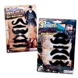 72 Units of Multi Style Mustaches Pack - Costumes & Accessories