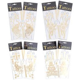 96 Units of Metallic Hand Tattoos - Tattoos and Stickers