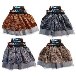 24 Units of Kids Animal Satin Tutu - Costumes & Accessories