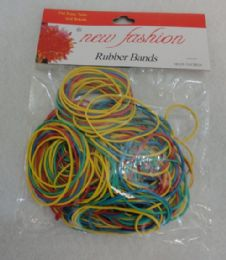 24 Units of 100G Colored Rubber Bands - Office Supplies