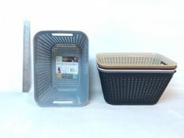 48 Units of PL. BASKET RECTANGULAR DEEP 5 ASST CL - Storage Holders and Organizers