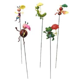 48 Units of Yard Stake [Frog/Bee/ Bugs with Umbrella] - Garden Decor