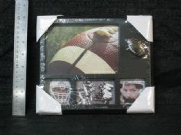 48 Units of PL. FRAME 4 SECTION FOOTBALL - Picture Frames
