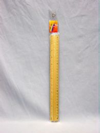 576 Units of Ruler, Metal 12in. Asst. cl - Office Supplies