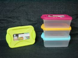 72 Units of PL. STORAGE CONTAINER RECT. W/ LOCK LID - Storage Holders and Organizers