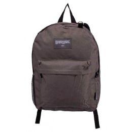 """24 Units of Classic Kids Backpacks in Charcoal - Backpacks 17"""""""