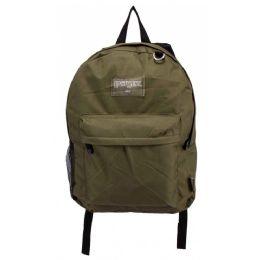 """24 Units of Classic Kids Bulk Backpacks in Olive - Backpacks 17"""""""