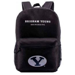 "24 Units of BYU University Bulk Backpacks in Black - Backpacks 17"""