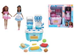 12 Units of BEAUTY DOLL WITH KITCHEN PLAY SET - Dolls