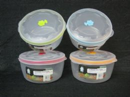72 Units of PL. CONTAINER RD 96OZ - Storage Holders and Organizers