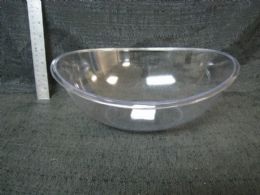 48 Units of Pl. Clear Tray Rect. Diag. Lines 36pc/c - Plastic Tableware