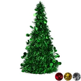 48 Units of Christmas Tree Tinsel Cone - Christmas Decorations