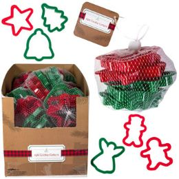 20 Units of Plastic Christmas Cookie Cutter - Baking Supplies