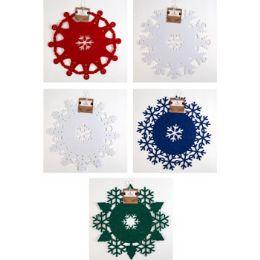 48 Units of Felt Snowflake Doily - Christmas Decorations