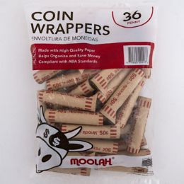 50 Units of Coin Wrappers - Penny 36ct - Coin Holders & Banks