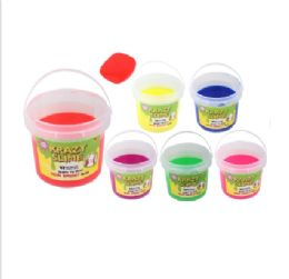 6 Units of Krazy Slime Bucket Solid - Slime & Squishees