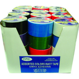 54 Units of ECONOMY DUCT TAPE ASSORTED COLOR - Tape