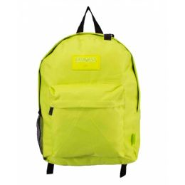 24 Units of Kids Classic Padded Backpacks in Lime - Backpacks 17""