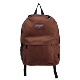 24 Units of Kids Classic Padded Backpacks in Brown - Backpacks 17""