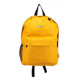 24 Units of Kids Classic Padded Backpacks in Yellow - Backpacks 17""