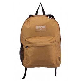 """24 Units of Kids Classic Padded Backpacks in Khaki - Backpacks 17"""""""