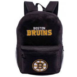 "24 Units of Boston Bruins Bulk Backpacks in Black - Backpacks 17"""