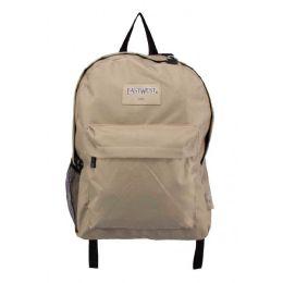 """24 Units of Classic Kids Bulk Backpacks in Tan - Backpacks 17"""""""