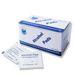 500 Units of 70% Isopropyl Wholesale Alcohol Pads , First Aid Cleaning Pads - First Aid and Hygiene Gear