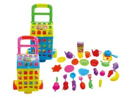 18 Units of KITCHEN SET W/CARRY CART - Toy Sets