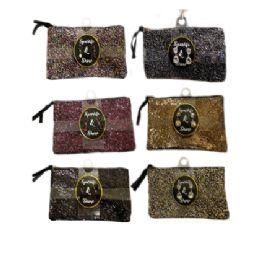 48 Units of Fashion Glitter Bag 8x5in w/ Earrings - Handbags