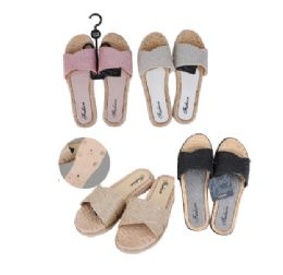 36 Units of CC Sandal Ladies Stones 2 Straps Style - Women's Flip Flops
