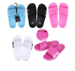 50 Units of CC Sandal Ladies 4 Side Stripes - Women's Flip Flops