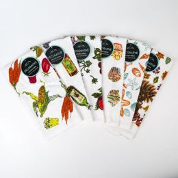 72 Units of Kitchen Towels 15 X 25 6 Assorted Prints - Kitchen Towels