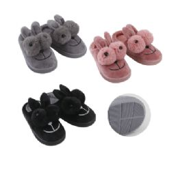 36 Units of Thermaxxx Kid's Slipper Bunny w/ 2 Fur Balls - Girls Slippers